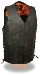 Men's Straight Bottom Side Lace Vest MLM3520