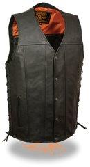 Men's Straight Bottom Side Lace Vest MLM3520