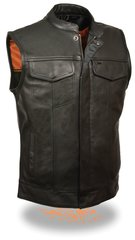 Men's Open Neck Snap/Zip Front Club Vest MLM3510