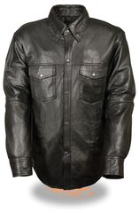 Men's Lightweight Premium Leather Shirt LKM1600