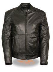 Women's Leather Stud/Wing Detailing Motorcycle Jacket ML1952
