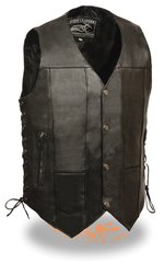 Men's 10 Pocket Side Lace Vest EL5391