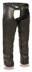 Men's Premium Buffalo Leather Slash Pocket Motorcycle Chap w/Snap Out Liner SH1103
