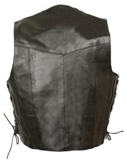 Kid's Basic Side Lace Leather Three Snap Biker Vest SH2011L