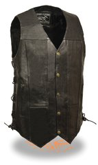 Men's 10 Pocket Side Lace Vest - Tall EL5391TALL