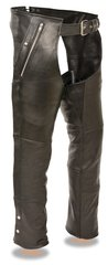 Men's Milwaukee Leather Four Pocket Thermal Lined Motorcycle Chap ML1191