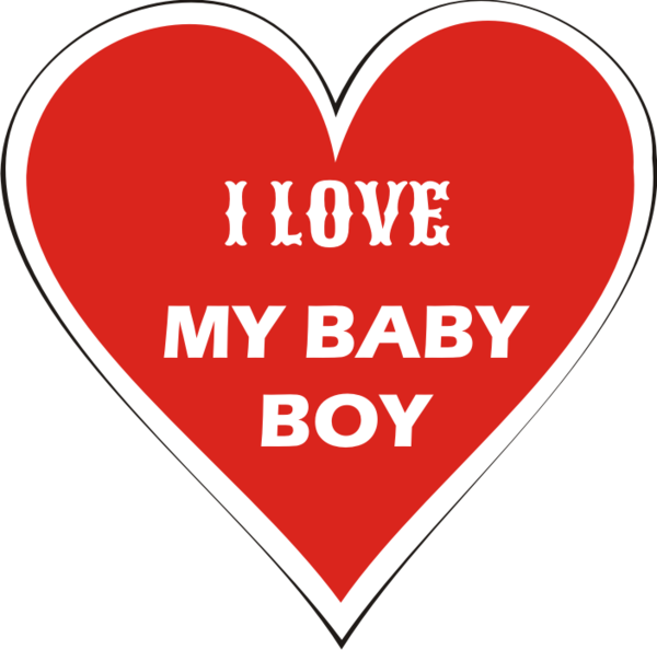 """""""I LOVE MY BABY BOY"""" HEART MAGNET   Guidepost Insignia"""