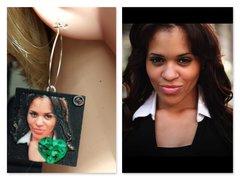 Emerald Earring Selfie