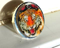 Tiger Premium Silver Ring Selfie
