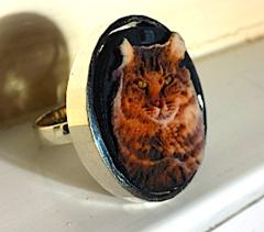 Cat Premium Silver Ring