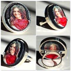 Murcian@ Ruby Premium Silver Ring Selfie
