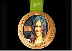 Medal of the Winner with Selfie in 3D