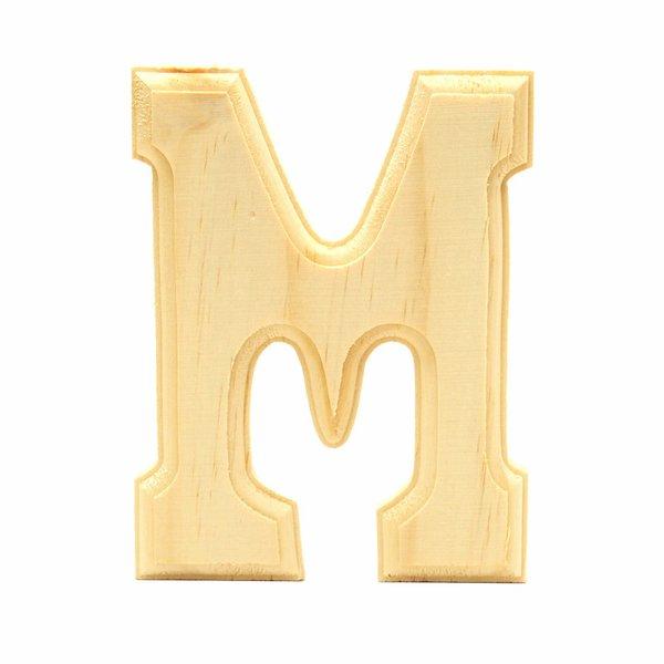 Pine letter m home decor items decorative items for Letter m home decor