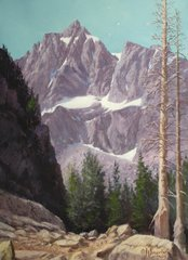 Climbing in the Tetons 18x14