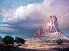 Sunset in Monument Valley - SOLD
