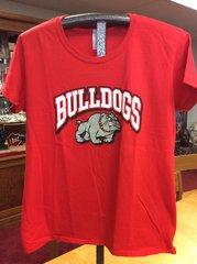 A - Bulldogs - Standing 'Bulldogs' Short Sleeve T-Shirt