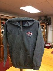 Gray Hoodie w/zipper & pockets