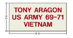 Centennial Veteran's Wall Personal Ceramic Tile (example displayed)