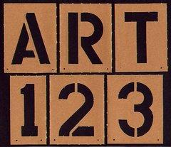 Numeric - Alpha Stencils 5 inch