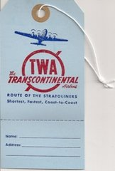 Tags TWA Airline tags (3)