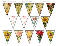 Pocket Banners Floral, digital 2374