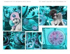 Pastel Steampunk Art Book Kit