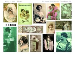 1855 Beauty in Green  Printable