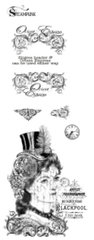 Steampunk Woman stamp set