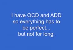 Snarky stamp - OCD ADD