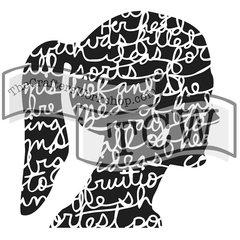 Stencil Balzer Design Silhouette Script 6x6