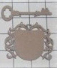 Laser Cut Crest w/ key