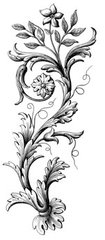 LC Daisy Flourish Rubber Stamp