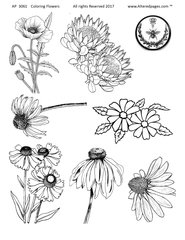 3061 Flowers to Color and Cut