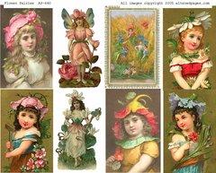 640 Flower Fairys Printable