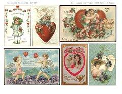 697 Valentine Postcards digital