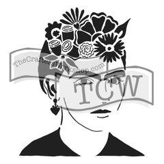 Stencil Le Artist Frida  6x6