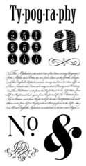 Graphic 45  Typography Stamp Set