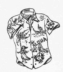 Aloha Hula Shirt Stamp