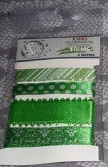 Festive Ribbons Trims green