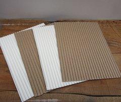 Adhesive Corrugated White paper