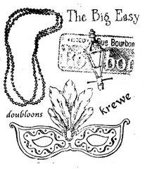The Big Easy - Mardi Gras stamp