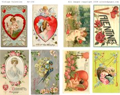 156 Vintage Valentines Printable
