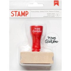 Merry Christmas Wood Handle stamp