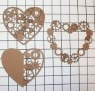 Steampunk Hearts Large