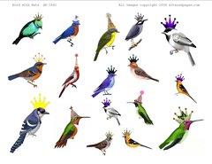 1561 Birds in Hats digital
