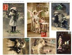 572 French Winter postcards Printable