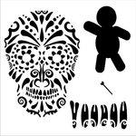 Stencil/Mask Sugar Skull, VOODOO