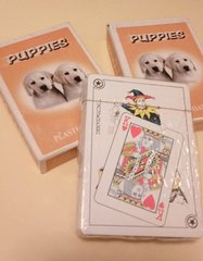 Puppies playing cards Labs