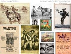 1558 Vintage Cowboys Printable