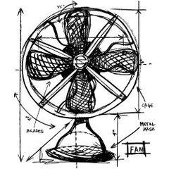 Tim Holtz Fan Sketch Stamp